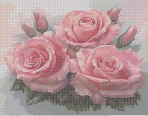 Beaded design scheme 'Rose Bouquet' created in Bead-n-Stitch software