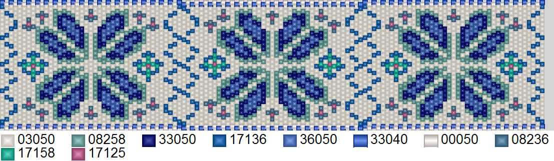Схема бисероплетения формата