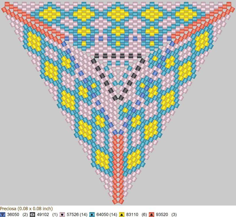 Схема бисероплетения формата 'Peyote Triangle', созданная в программе 'Бисероплетение с MyJane'