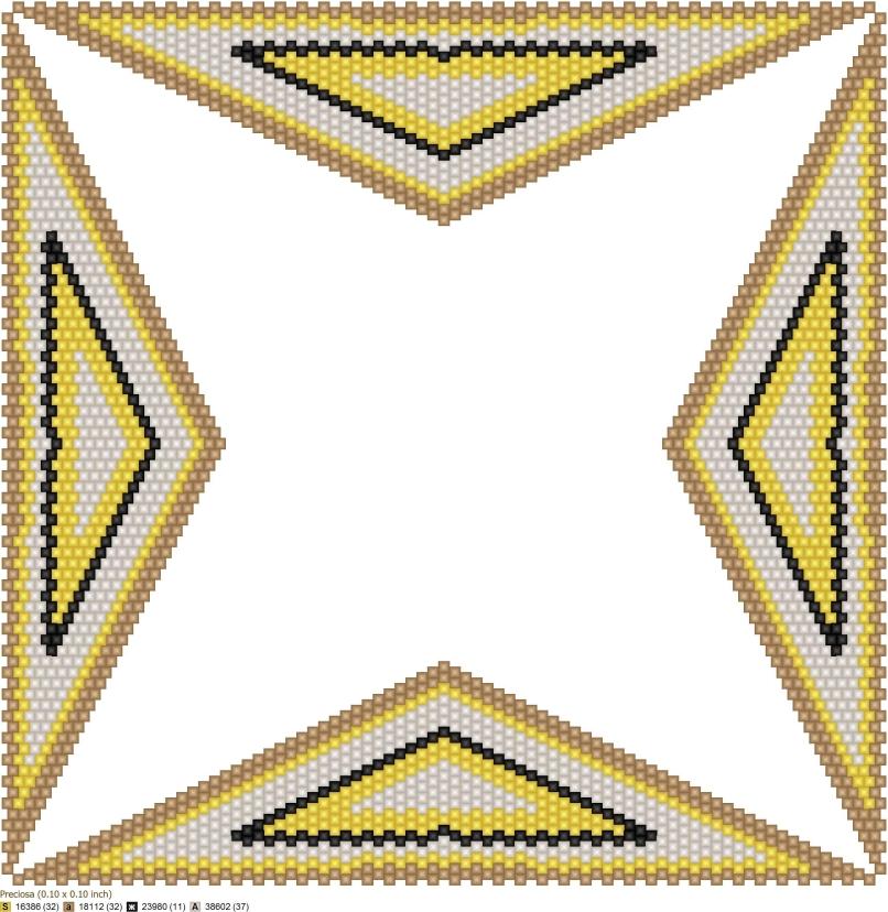 Схема геометрического бисероплетения формата 'Искривленный квадрат' (Warped Square), созданная в программе 'Бисероплетение с MyJane'