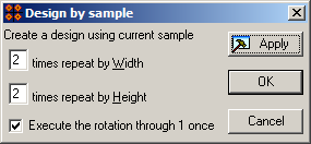 Design by sample dialog of 'Bead-n-Stitch' software.